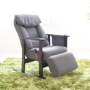 リクライニングチェア 高座椅子 フットレスト付 こずえ 幅63cm ( チェア イス 座椅子 リクライニング式 背もたれ )|interior-palette