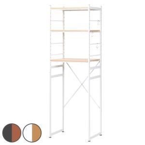 冷蔵庫ラック スチールフレーム 木目調天板 幅58cm ( キッチン収納 家電収納 ゴミ箱収納 冷蔵庫 電子レンジ ラック スチール 食器棚 棚 ) interior-palette