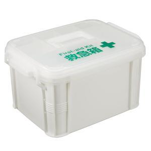 薬ケース 救急箱 W ( 薬箱 薬入れ くすり整理箱 クスリ くすり プラスチック )の写真