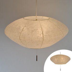 ペンダントライト 和紙 美濃粕紙 3灯 ( 照明 天井 和風照明 )|interior-palette