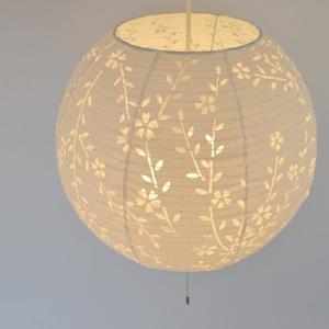 ペンダントライト 和紙 komorebi しだれ桜 3灯 ( 照明 天井 和風照明 )|interior-palette