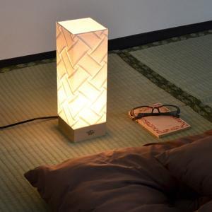 テーブルライト 和紙 プリーツ 角型 織姫 1灯 ( 照明 和風 テーブル )|interior-palette