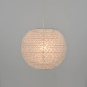 ペンダントライト 二重提灯 小梅白in小梅白 1灯 25cm ( 照明 天井 和風照明 )|interior-palette