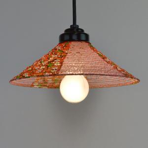ペンダントライト 和紙 ペンダントランプ プラムRDX小梅赤 1灯 ( 照明 天井 和風照明 )|interior-palette