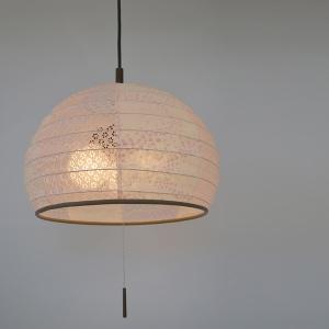 ペンダントライト 和紙 ペンダントランプ 花舞ピンクX小梅ピンク 3灯 ( 照明 和室 和風照明 )|interior-palette
