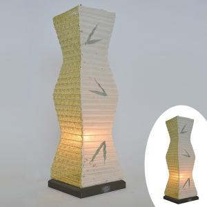 テーブルライト 和紙 テーブルランプ 笹X麻葉萌葱 ( 照明 テーブル LED )|interior-palette