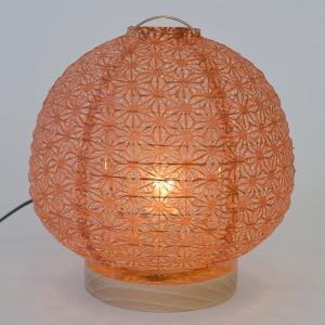 テーブルライト 和紙 テーブルランプ 麻葉煉瓦 ( 照明 テーブル LED )|interior-palette