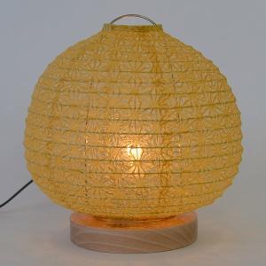 テーブルライト 和紙 テーブルランプ 麻葉菜種 ( 照明 テーブル LED )|interior-palette