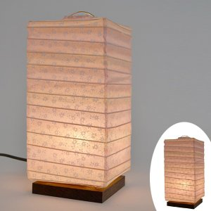 テーブルライト 和紙 テーブルランプ 百合ピンク ( 照明 テーブル LED )|interior-palette
