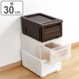 収納ケース カバゾコ 幅30×奥行40×高さ22cm プラスチック 引き出し ( 収納ボックス 収納 衣装ケース おもちゃ箱 衣類ケース クローゼット収納 )|interior-palette