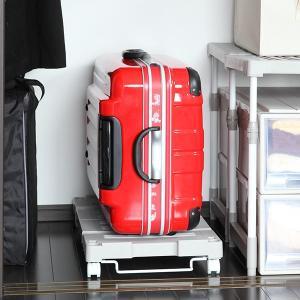 押入れ収納キャリー 幅54〜76×奥行37×高さ11cm 押入れ キャリー 台車 キャスター付き ( 押入れ収納 収納 平台車 すのこ 伸縮タイプ ) interior-palette