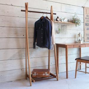 コートハンガー ハンガーラック 木製 折りたたみ ココア 幅71.5cm ( 天然木 コートラック 洋服掛け コート収納 北欧 )|interior-palette
