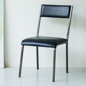 チェア オーク材 ダイニングチェアー MRY-068 ( イス 椅子 アイアンチェア )|interior-palette