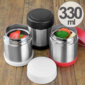 保温弁当箱 スープジャー ステンレスフードポット 330ml ( 保温 保冷 ステンレス製 )|interior-palette