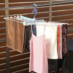 洗濯ハンガー ポーリッシュ PORISH 華麗なタオルハンガー ( 洗濯 物干し ハンガー タオル タオル干し アルミ 華麗 折りたたみ 低竿 )|interior-palette