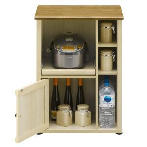 キッチンカウンター 60フレンチカントリー Milfie 幅59cm ( 棚 キッチン収納 リビング収納 家電収納 食品収納 スライド引出し 食器棚 )|interior-palette