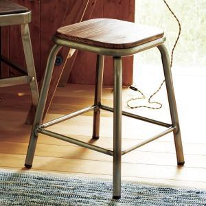 スツール チェア メタルスツール ガンメタル ( イス 椅子 腰かけ )|interior-palette