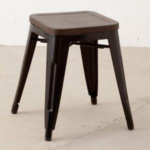 スツール メタルスツール ブラック ( イス 椅子 腰かけ )|interior-palette
