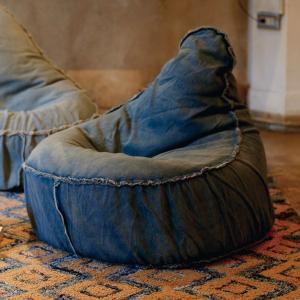 ビーズクッション クッション デニム チェアービーズクッション ヴェント VENTO ( 背もたれつき ソファ ビーズソファー )|interior-palette