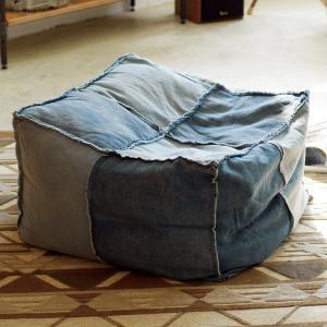 クッション デニム ビーズクッション ヴェント VENTO ( ソファ ビーズソファー フロアソファー )|interior-palette