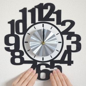 ウォールクロックステッカー ウォールステッカー 時計 ナンバー Wall Clock Sticker ( ウォールクロック 数字 ステッカー )|interior-palette