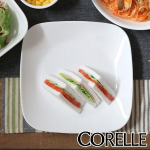 プレート 23cm コレール CORELLE スクエア 白 食器 皿 角皿 ウインターフロスト ( ...