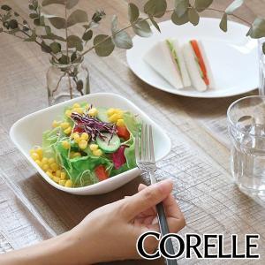 ボウル 17cm コレール CORELLE スクエア 白 食器 皿 角皿 ウインターフロスト ( 食洗機対応 ホワイト 電子レンジ対応 お皿 オーブン対応 白い )|interior-palette