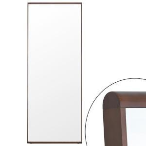 姿見 立掛けミラー ログミラー 7018 DB ( 鏡 全身鏡 ミラー )|interior-palette