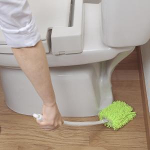 トイレ床ふきモップ スペア付 ( トイレ掃除 床清掃 モップ掛け 拭き清掃 お手洗い 便所 )
