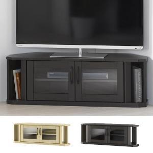 テレビ台 ローボード コーナー型 ガラス扉 ティント 幅100cm ( テレビボード AVボード TV台 TVボード コーナータイプ )|interior-palette