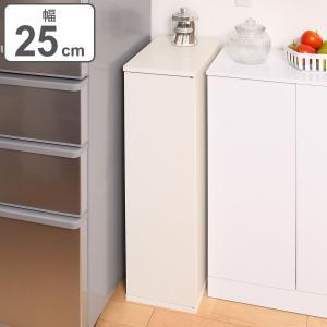 キッチン収納 すき間収納 スリムストッカー 4段 扉付 スレンダー 幅25cm ( 収納棚 すき間 隙間 スリムラック ホワイト シンプル 白 )|interior-palette