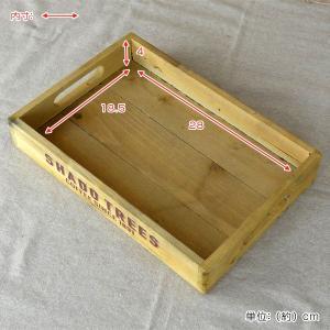 トレイ S 幅30×奥行20×高さ5cm 木製 トレー 角型 持ち手付き ( 木製トレー お盆 天然木 アンティーク )|interior-palette|06