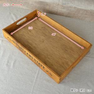 トレイ L 幅49×奥行31×高さ6cm 木製 トレー 角型 持ち手付き ( 木製トレー お盆 天然木 アンティーク )|interior-palette|06