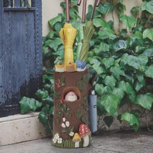 【週末限定クーポン】傘立て 小鳥 バード 円筒形 アンブレラスタンド ( 玄関 収納 傘たて かさ立て ) interior-palette