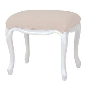 スツール 姫系 ロマンチック HAMPTON 座面高47cm ( 白家具 猫脚 クラシック )|interior-palette