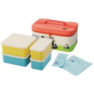 ピクニックランチボックス お弁当箱 ムーミン パレット 保冷バッグ付 行楽ランチセット ( お重 御重 重箱 保冷剤付 ランチボックス )