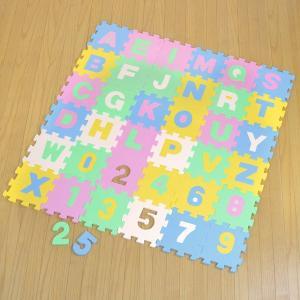 パズルマット ジョイントマット アルファベット 数字 9枚入り 厚み1cm ( フロアマット プレイマット ジョイント )|interior-palette