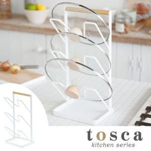 鍋フタスタンド トスカ TOSCA 鍋ふたスタンド 3段 トレー付き スチール製 ( 鍋蓋スタンド 鍋蓋置き 鍋ふた置き キッチン用品 )|interior-palette