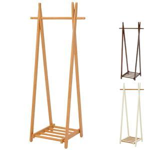 ハンガーラック 木製 コートラック 幅66cm ( 折りたたみ式 折り畳み 隙間収納 ハンガー掛け )|interior-palette