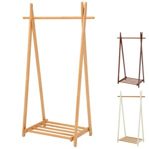 ハンガーラック 木製 コートラック 幅90cm ( 折りたたみ式 折り畳み 隙間収納 ハンガー掛け )|interior-palette