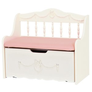 ベンチチェスト 収納ボックス付 姫系 ロマンチック 幅75cm ( ベンチ 収納 子供部屋 )|interior-palette