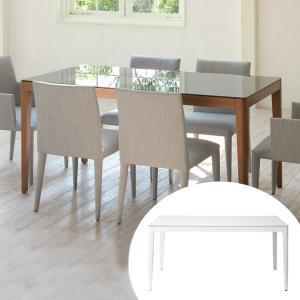 テーブル ダイニングテーブル 幅150cm WiTH ( ガラス天板 机 食卓 ) interior-palette