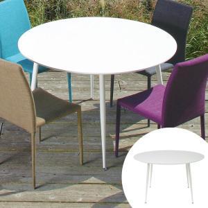 テーブル 円形 ダイニングテーブル 120cm GLOSS ( 丸テーブル 円卓 ホワイト )|interior-palette