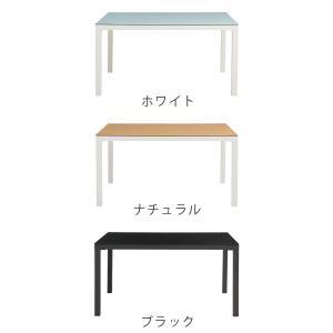 【週末限定クーポン】テーブル ダイニングテーブル ガラス天板 幅135cm ARGANO ( ガラス天板 机 食卓 )|interior-palette|03
