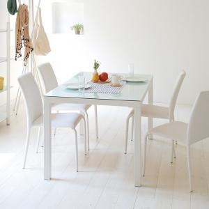 【週末限定クーポン】テーブル ダイニングテーブル ガラス天板 幅135cm ARGANO ( ガラス天板 机 食卓 )|interior-palette|05