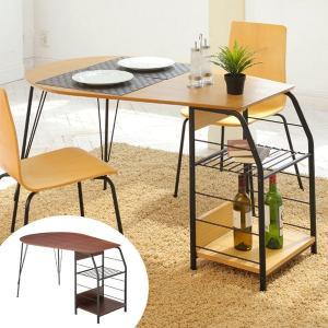 テーブル ダイニングテーブル ラック付き FLECHE ( ラック 食卓 机 )|interior-palette