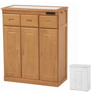 キッチンカウンター 食器棚 木製 タイルトップ 2口コンセント付 幅72cm ( キッチン家具 収納 キッチン台 カウンターキッチン ) interior-palette