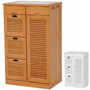 キッチンカウンター 食器棚 木製 タイルトップ キャスター付 幅57cm ( キッチン家具 収納 キッチン台 カウンターキッチン )|interior-palette