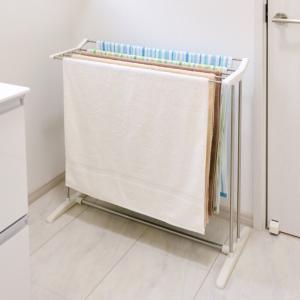 【今だけポイント5倍】室内物干し PORISH バスタオルスタンド ステンレス ( ステンレス製 軽量 タオルスタンド 洗濯物干し 部屋干し )|interior-palette