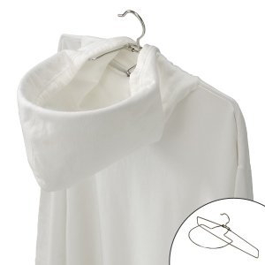 【週末限定クーポン】洗濯ハンガー パーカーハンガー 1本 ステンレス ( フードが乾く パーカー用 洗濯ハンガー ハンガー )|interior-palette